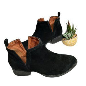 Jeffrey Campbell Muskrat Suede Leather Booties 5.5
